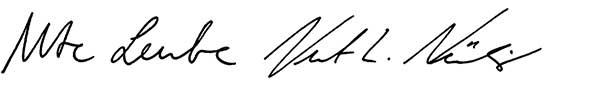 Unterschriften Ute Leube und Kurt Ludwig Nübling