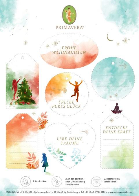 PRIMAVERA Weihnachtsetiketten 2020