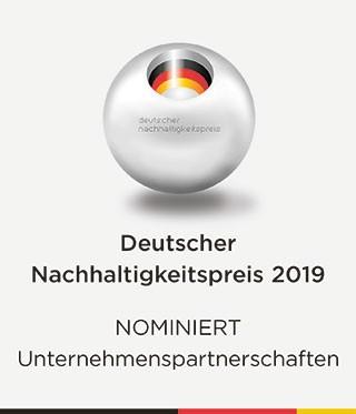 Deutscher Nachhaltigkeitspreis 2019 - Nominiert Unternehmenspartnerschaft