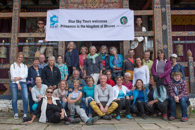 Gruppenbild in Bhutan
