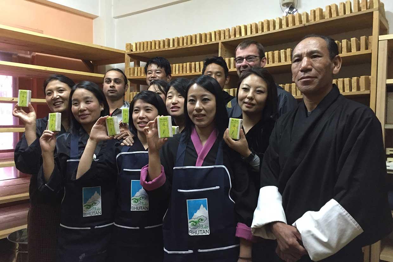 Seifenherstellung in Bhutan