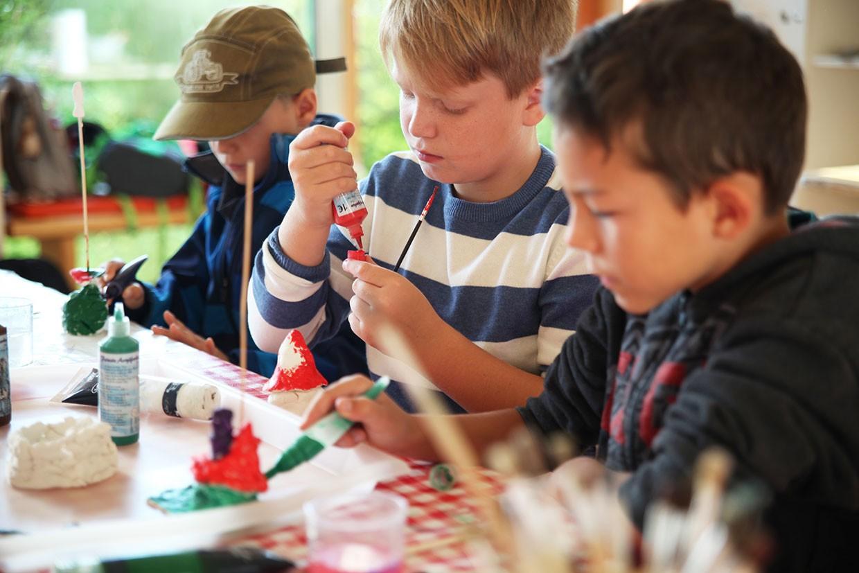 Kinder bei Kinderferienwoche