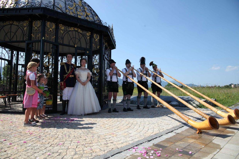 König Ludwig und Sissi besuchen PRIMAVERA Rosenfest