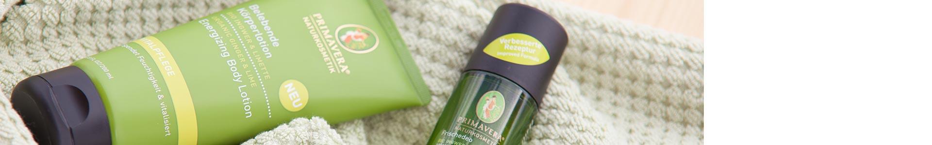 PRIMAVERA Vitalpflege Bio Ingwer & Limette