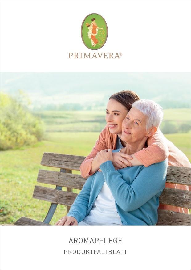 PRIMAVERA Aromapflege Produktfaltblatt