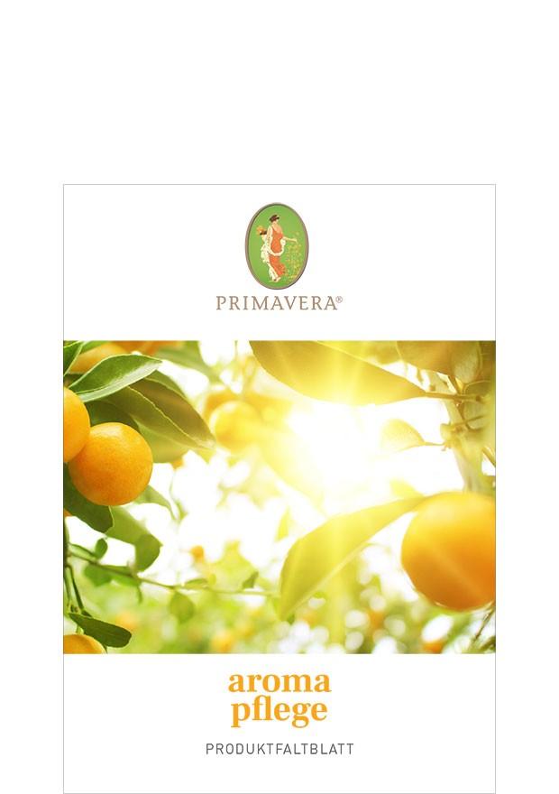 Aromapflege Produktfaltblatt